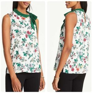 Floral Tie Neck Top